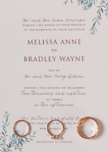 Wedding Invitation with Photography: Lindsey Cash Photography